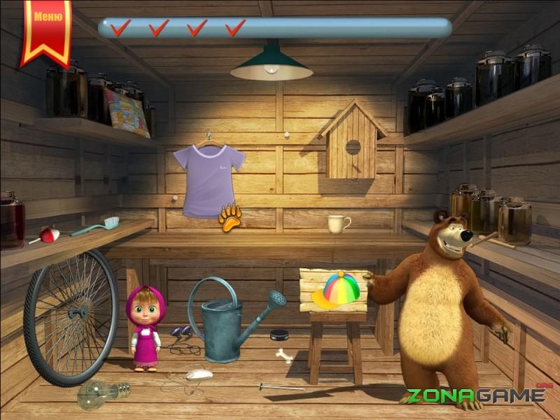 игра маша и медведь задания для малышей